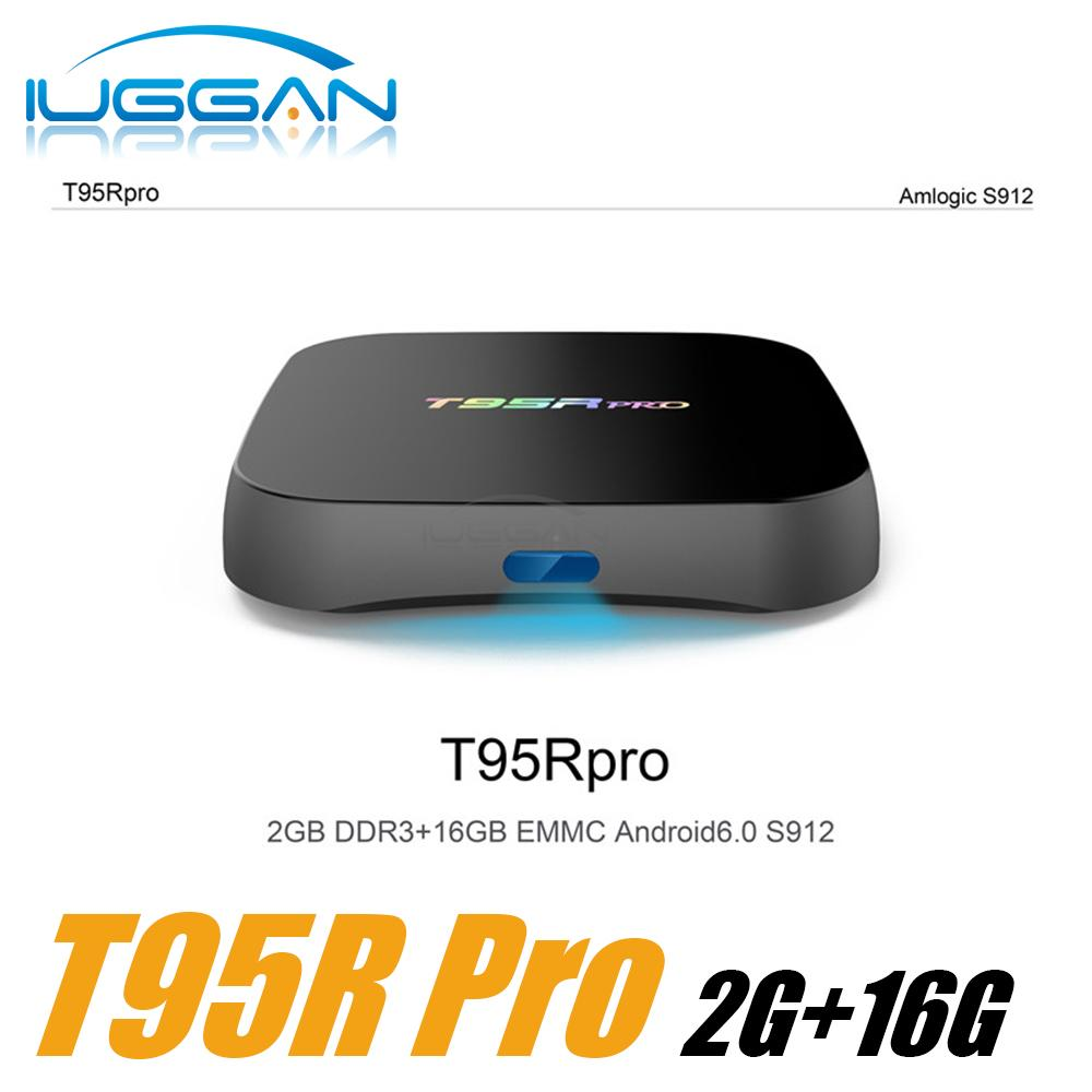 T95R PRO Amlogic S912 Android TV Box Octa core 2G / 16G Android 6.0 TV Box WiFi