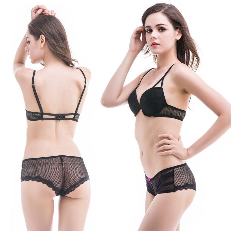 2017 Sexy Mush Bra Set Girl Push Up Plus Size Bra And Panties ...