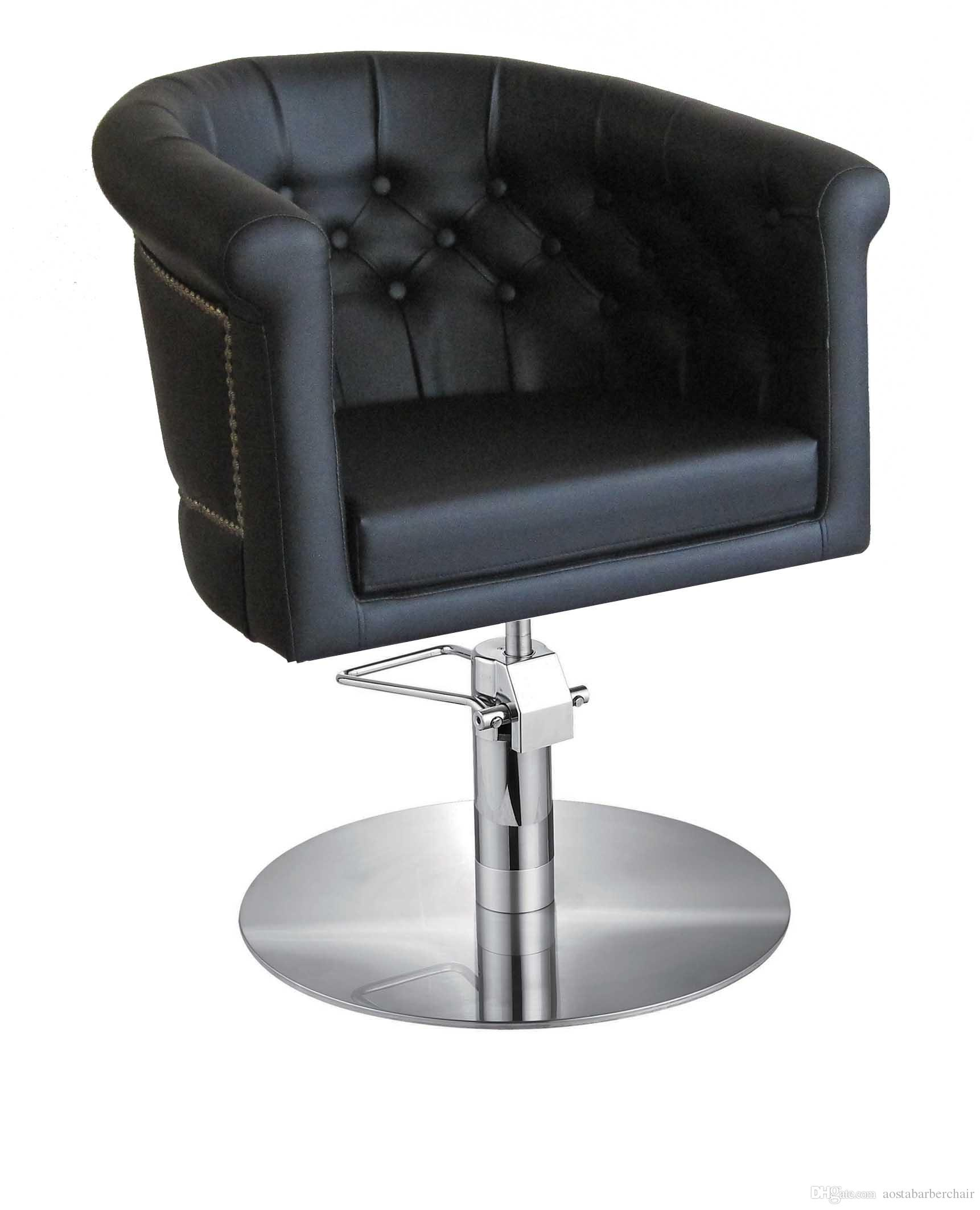 black styling chair comfortable hair salon furniture with cheap price
