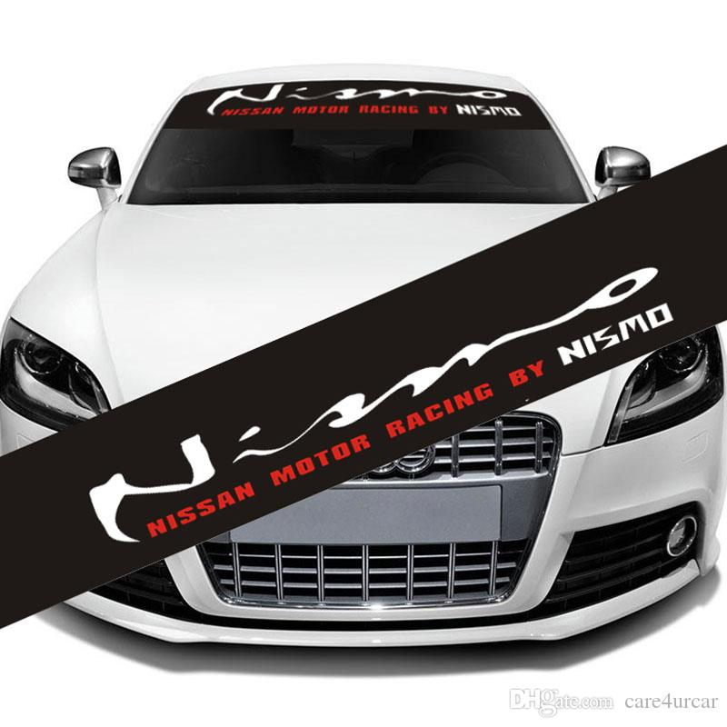 Reflective NISMO  Front Rear Windshield Banner Decal Vinyl Car - Car windshield decals