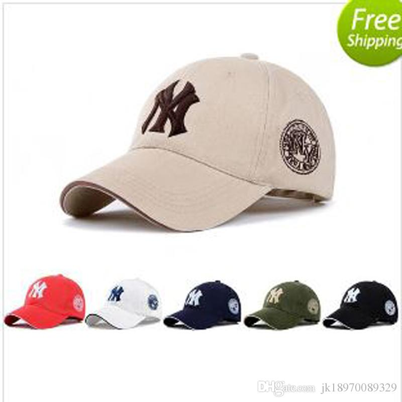 7 couleurs Yankees Hip Hop MLB Snapback Casquettes NY Casquettes MLB Unisexe Spo