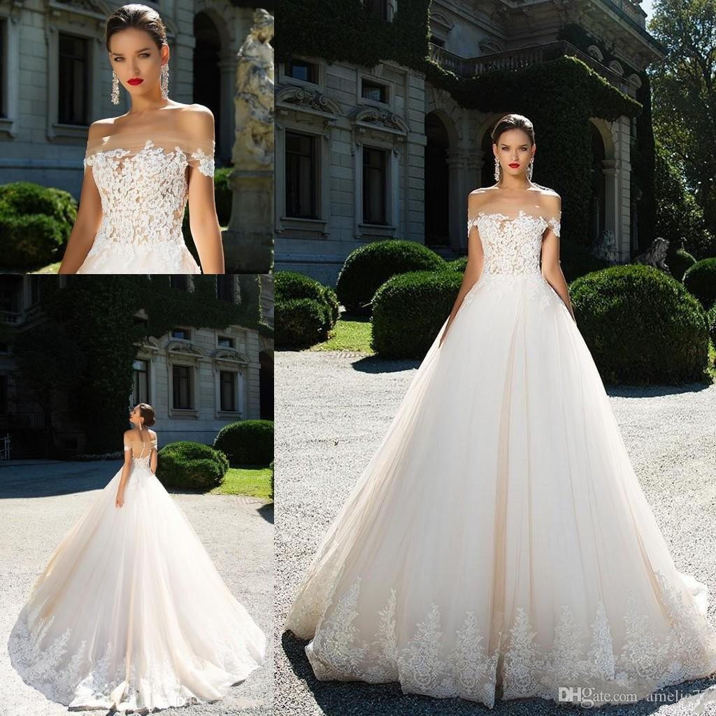 Discount 2017 y Blush Pink A Line Wedding Dresses f