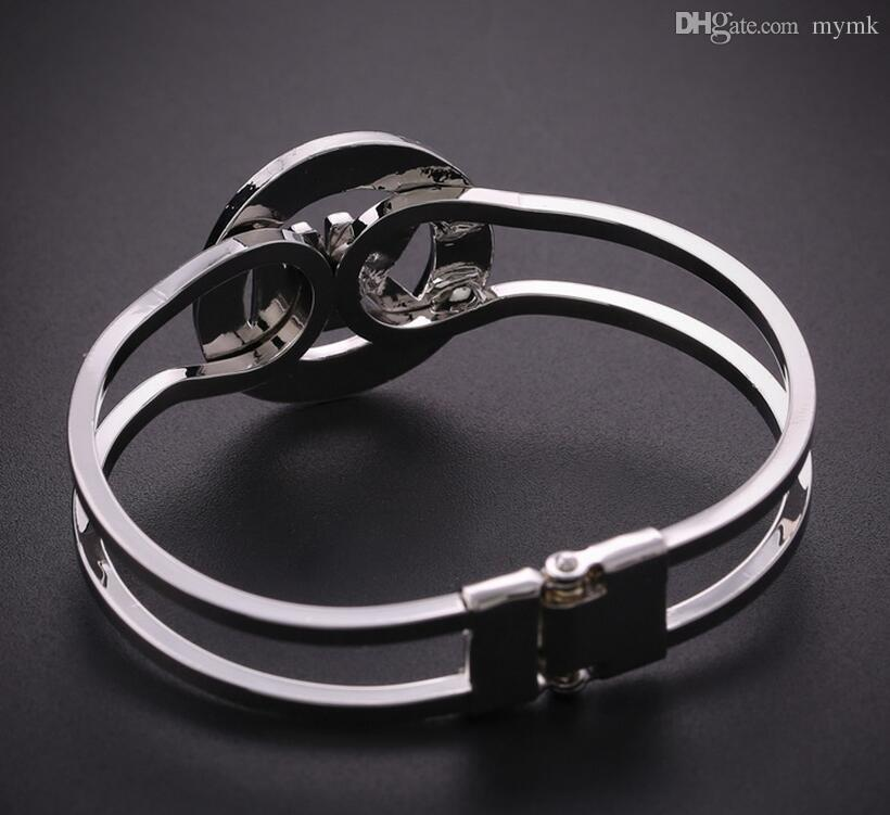 New york fashion brand high quality crystal charm bangles for High design jewelry nyc
