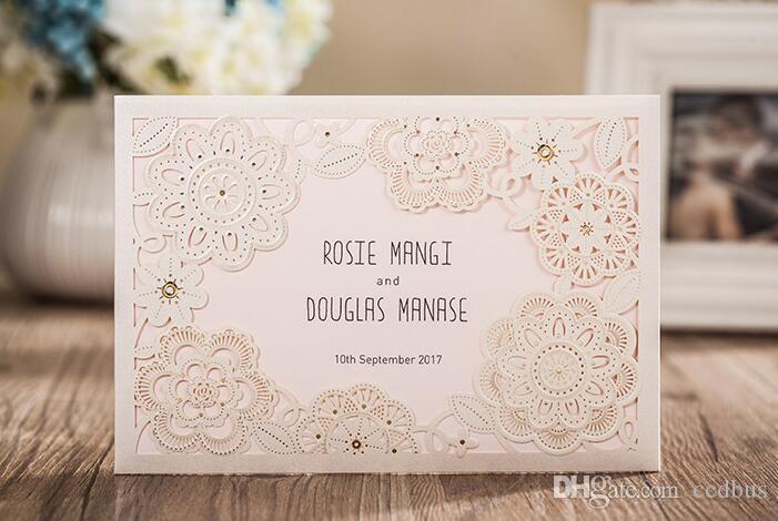 2017 New British Royal Design Laser Cut Flowers Elegant Wedding – Royal Wedding Invitation Cards
