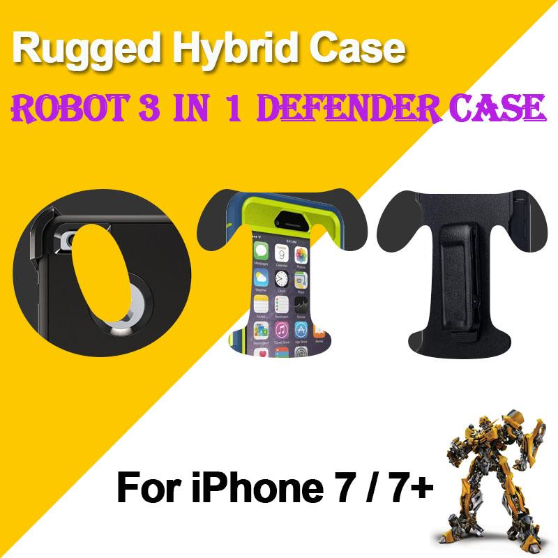 Pour i7 Robot 3 en 1 Defender Case Rugged hybride Cases Pour iphone 7 6s 6 5s pl