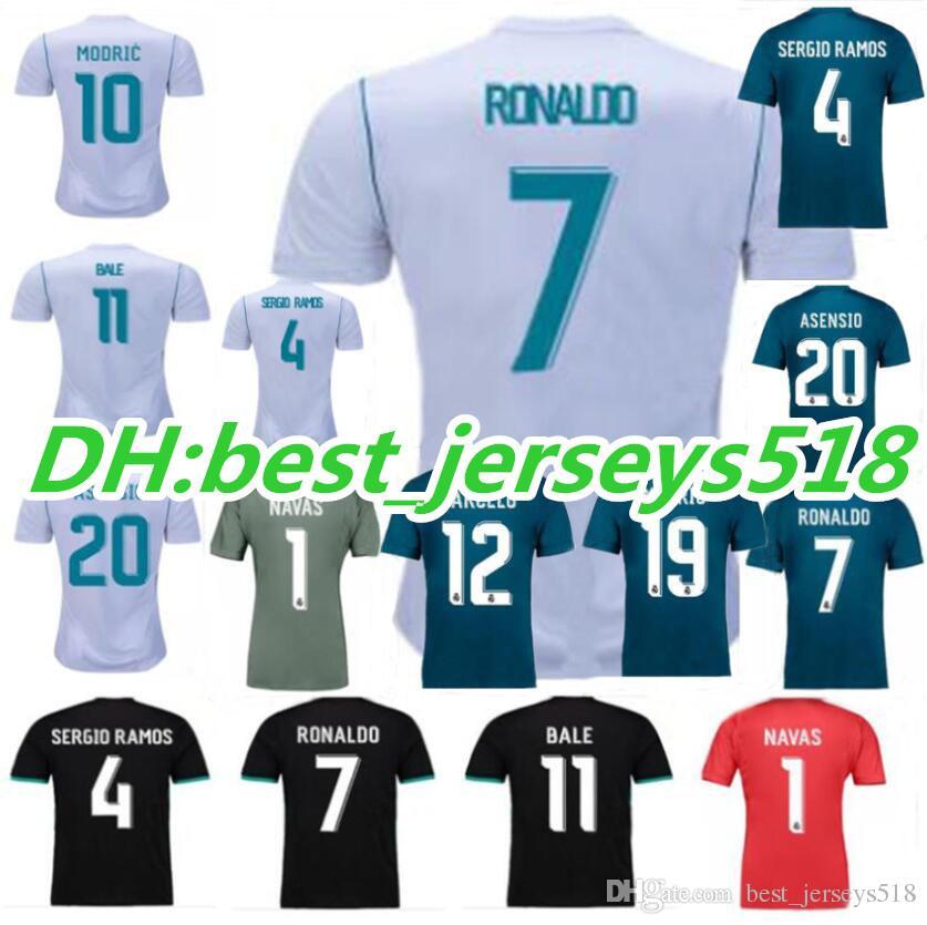 17 18 real madrid home soccer jersey 2017 ronaldo benzema bale kroos sergio ramos modric isco