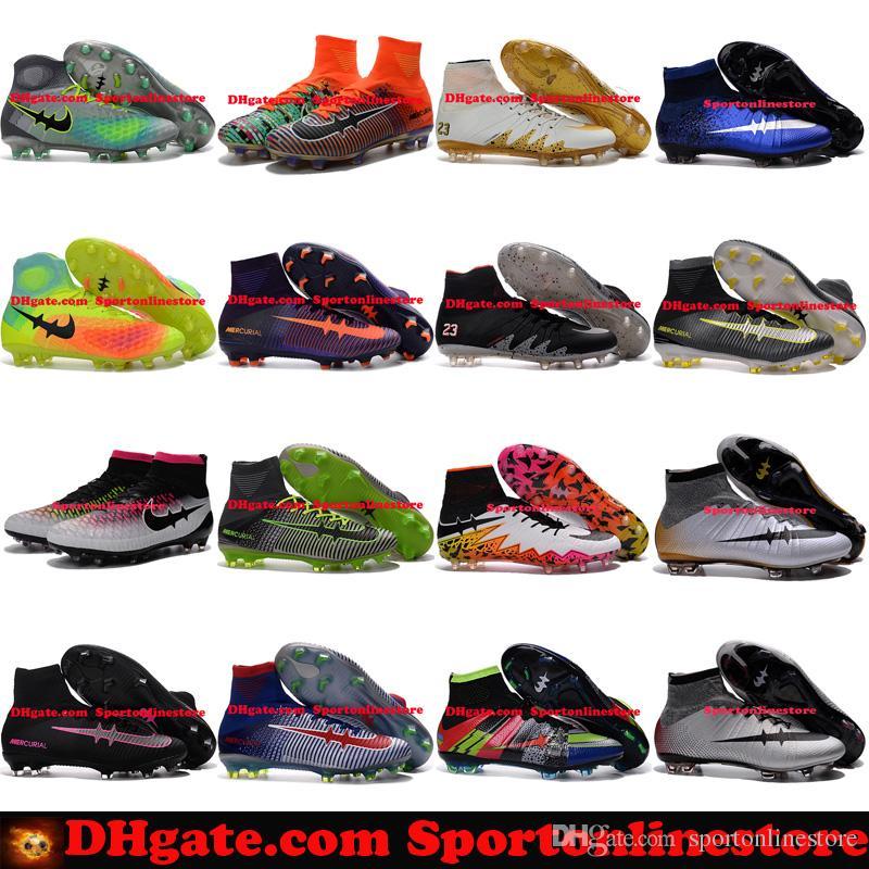 Mens Football Boots Neymar Hypervenom Phantom JR Magista Obra 2 Mercurial x EA SPORTS Superfly CR7 FG Soccer Cleats High Ankle Soccer Shoes