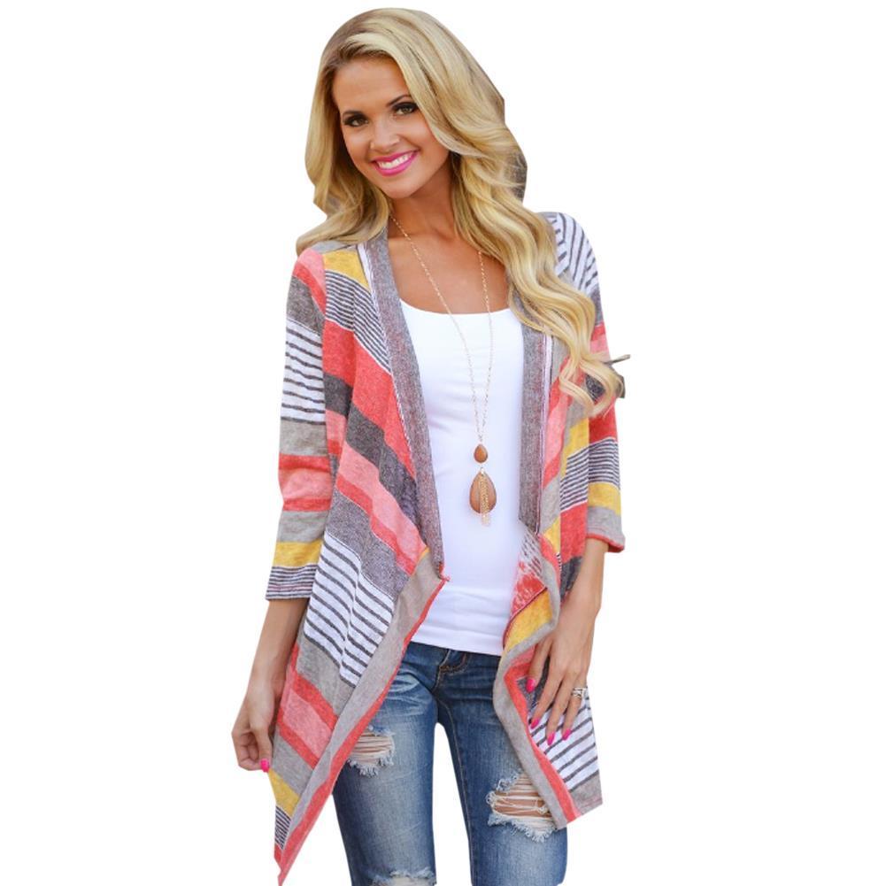 Wholesale-Boho Autumn Causal Sweater Knitted Cardigan Women Long ...