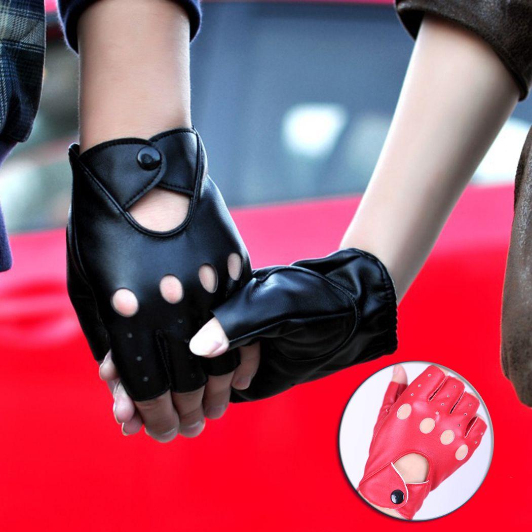 Driving gloves wholesale - Wholesale Driving Gloves Couple Gloves Half Finger Unisex Casual Fingerless Women Men S Mitten Hollow Black
