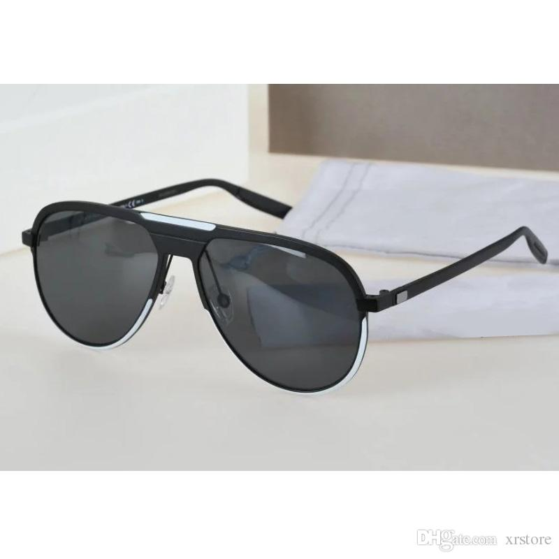 designer black sunglasses  2017 Mens Polarized Sunglasses Black Metal Frame Fashion Designer ...