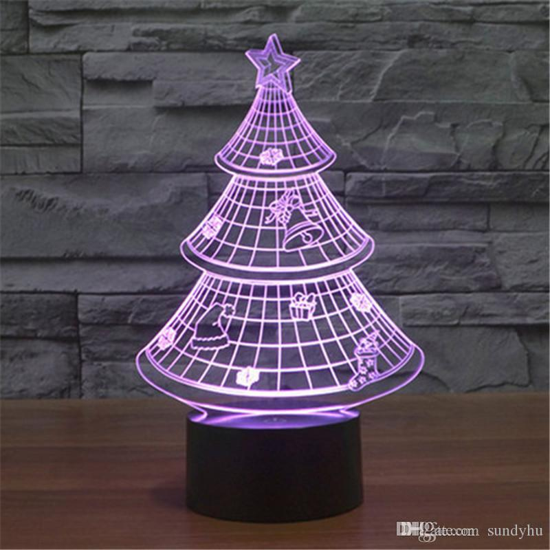 Novelty Lamp Base : 2017 Novelty 3d Optical Illusion Led Table Lamp Change Usb Led Desk Table Light Lamp Plastic ...