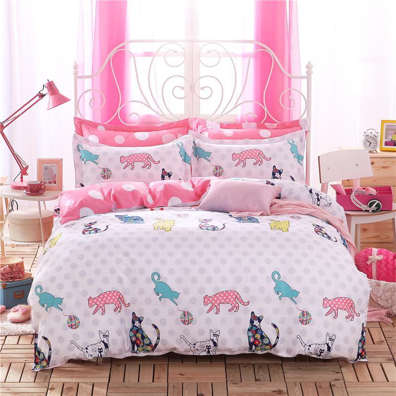 Wholesale Home Textiles Cat Team Style 100 Cotton Bedding
