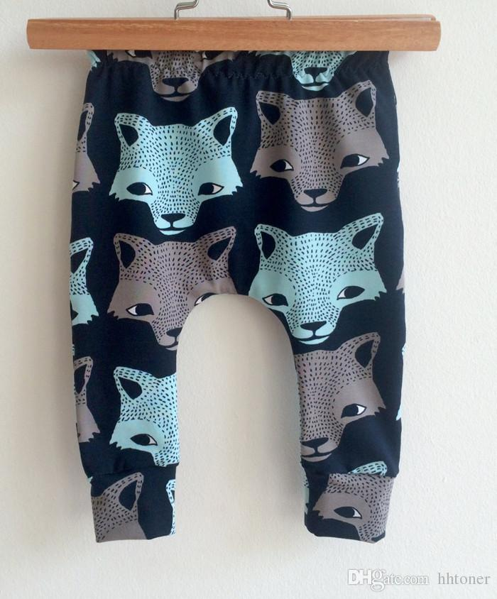 2017 New Baby Clothes Wolf Head Pattern Breathable Baby