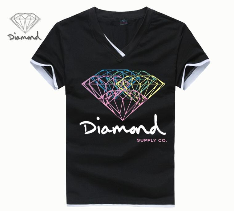 Mens t shirts fashion 2017 diamond supply co men t shirt for Diamond and silk t shirts