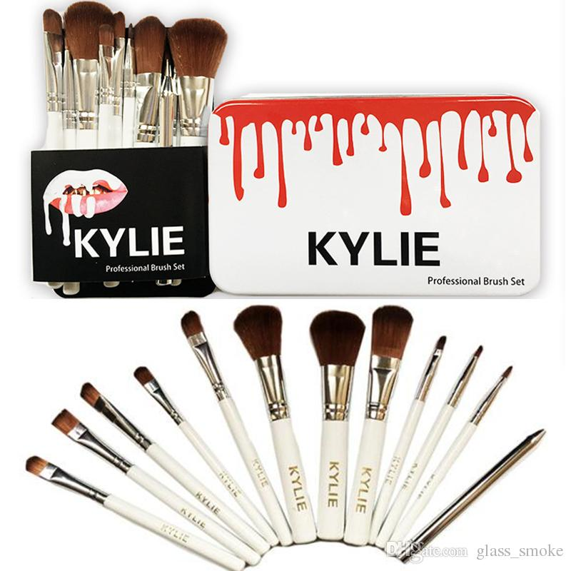 makeup brushes set. kylie makeup brushes professional brush sets brands make up foundation powder beauty tools cosmetic kits with retail iron box set 12