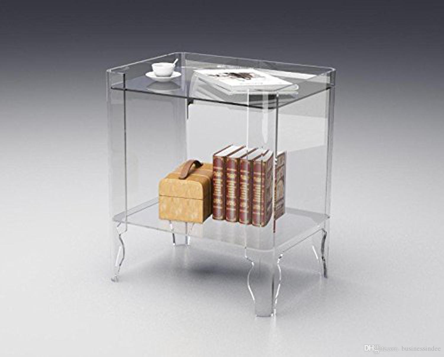 Clear Acrylic Book Case,lucite Bedside Drawer Table Black White Clear  Coffee Table With Book Storage Acrylic Table Acrylic Furniture Acrylic  Bookcase Online ...