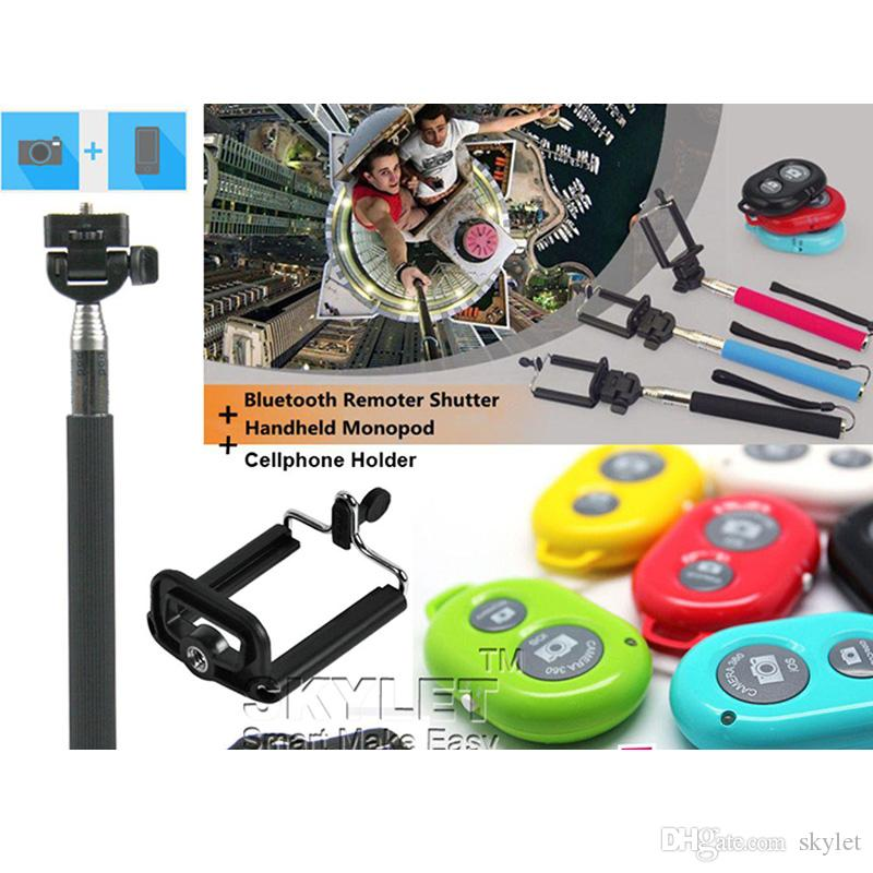 For iphone 6 Selfie Monopod Extendable Handheld Selfie Monopod selfie stick Photograph Bluetooth Shutter Camera remote control