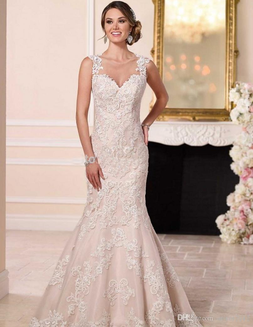 Vintage Wedding Dress 2017 Robe De Mariage Casamento Cheap Lace ...