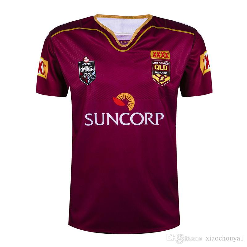 Livraison gratuite 2017 New Queensland rugby jerseys Top qualité QLD Maroons Rug