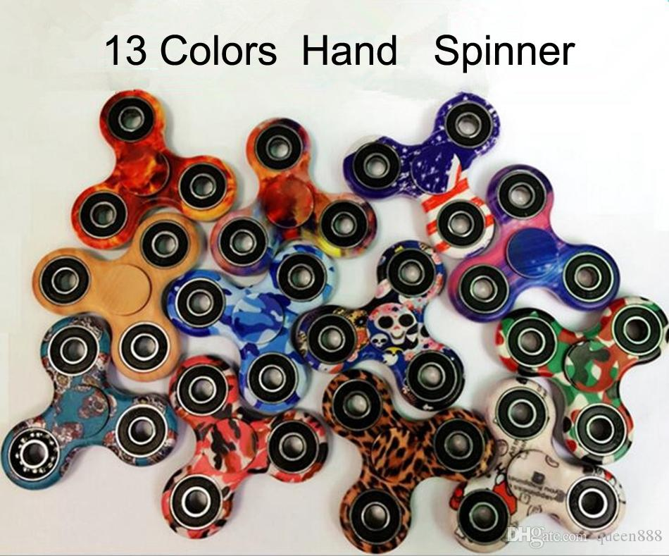2017 Latest Fidget Spinner Colour Camouflage Hand Plastic EDC