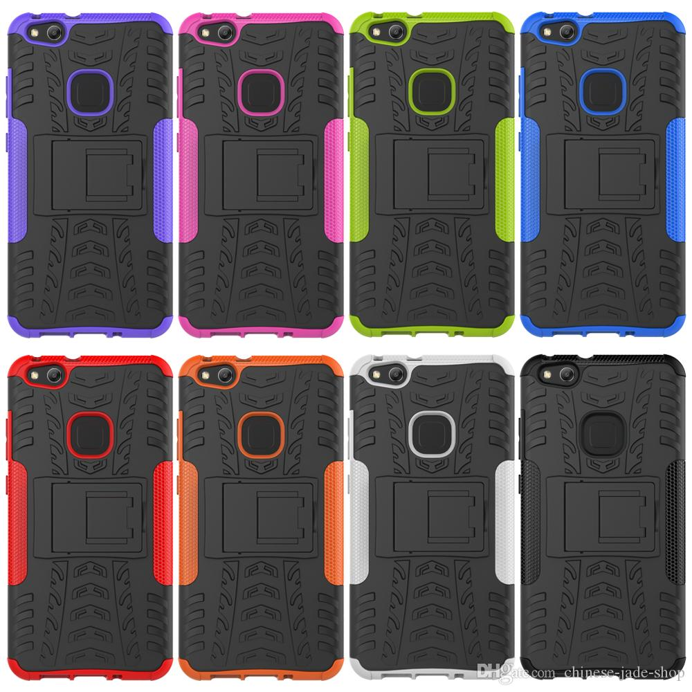 2 1 Hybrid KickStand Impact Rugged Heavy Duty TPU+PC Shock Proof Cover Case FOR HUAWEI P10 LITE P8 2017 HONOR 6C Y5 160pc