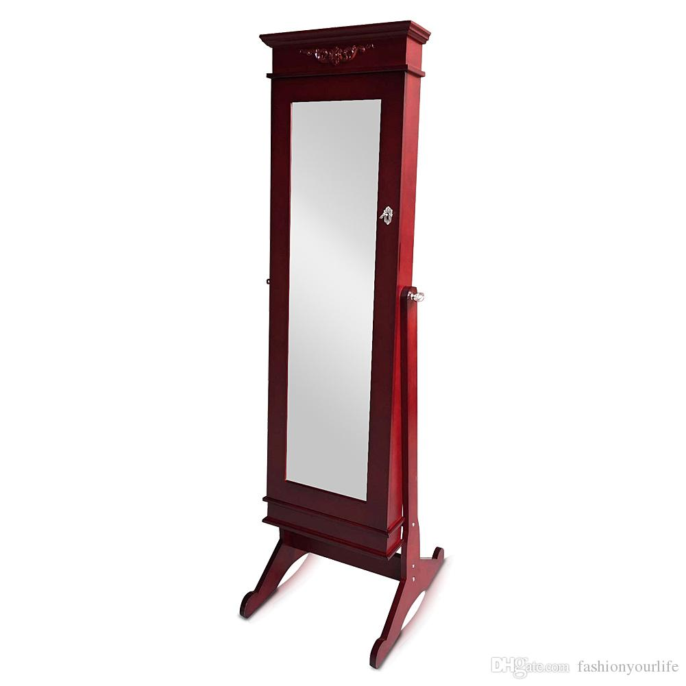 2017 Full Length Mirror Jewelry Cabinet Armoire Jewelry