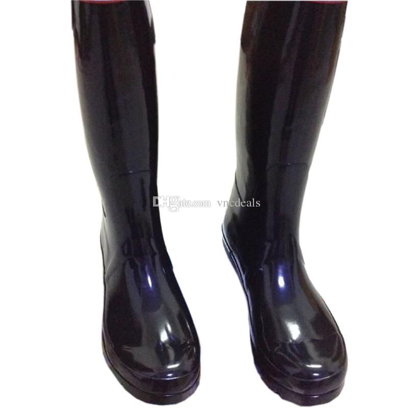 Men Women Rainboots Fashion Knee High Rain Boots Waterproof Welly Boots Rubber Rainboots Water