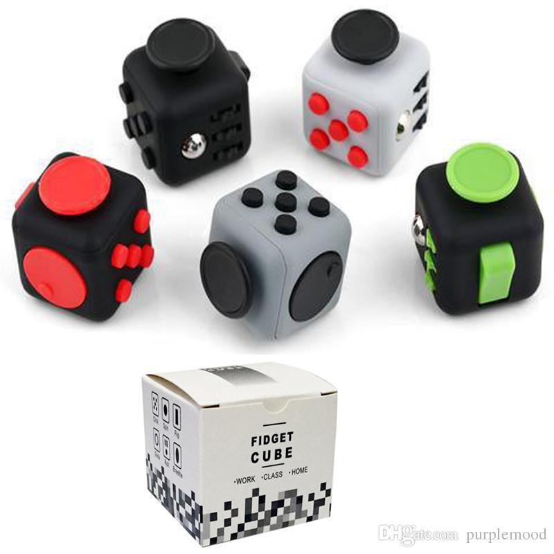 Size 3.3*3.3cm Fidget Cube A Vinyl Desk Toy Anti Irritability ...