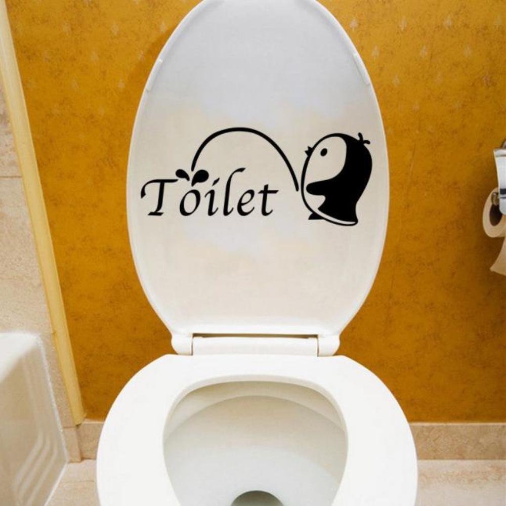 Wall stickers for bathroom - Happy Gifts Cute Penguin Wall Stickers Bathroom Docer Removable Diy Bathroom Sticker Mural Home Decal Decor For Toilet Wall Stickers Home Online With