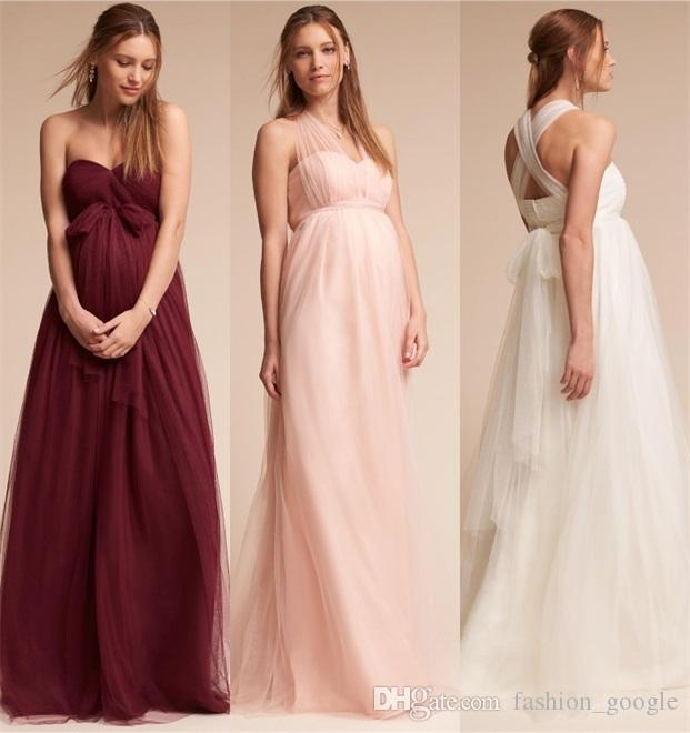 Convertible Maternity Bridesmaid Dresses 2017 Bhldn with ...