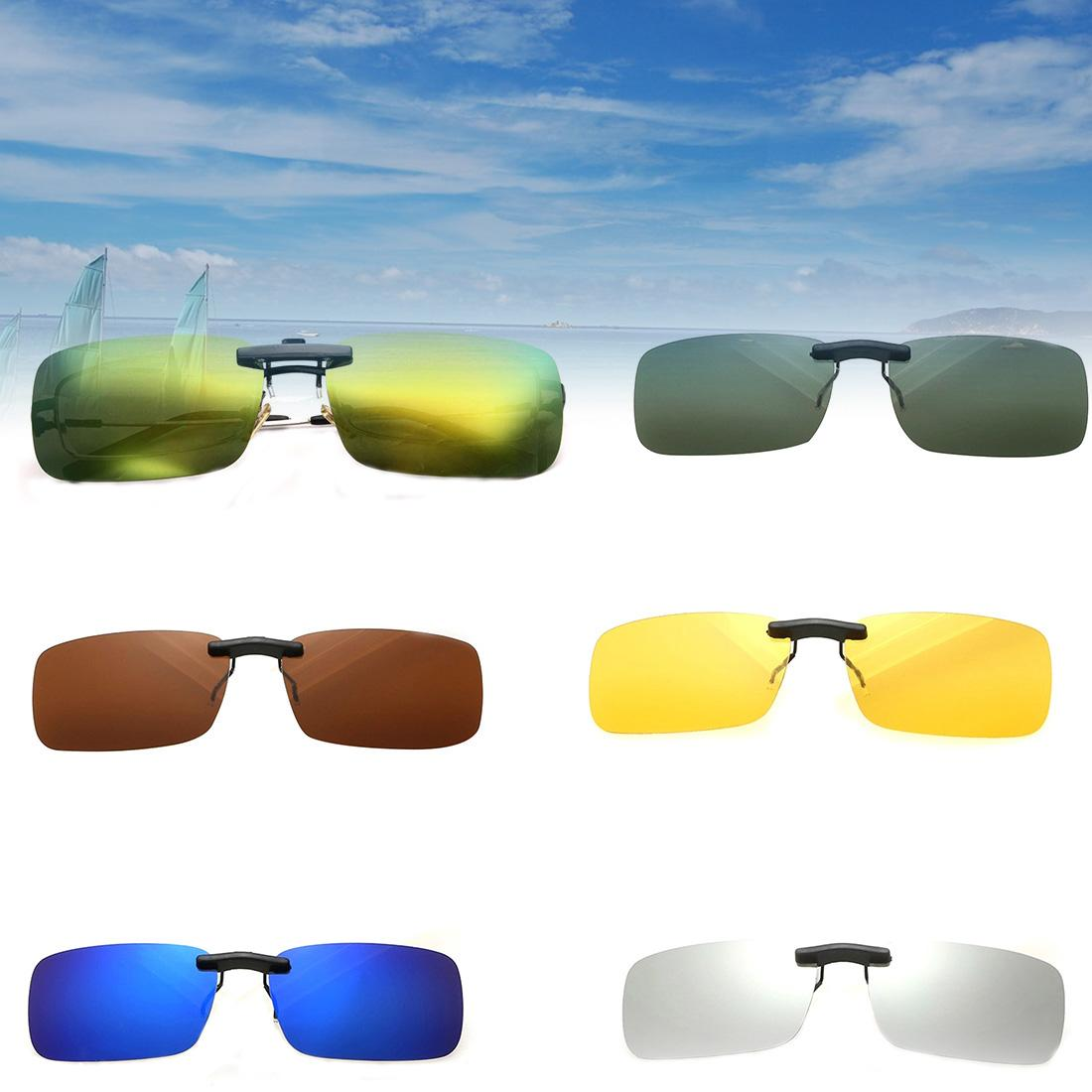 Vente en gros - 2016 Hot Fashion Unisex Polarized Clip On Sunglasses Driving Nig