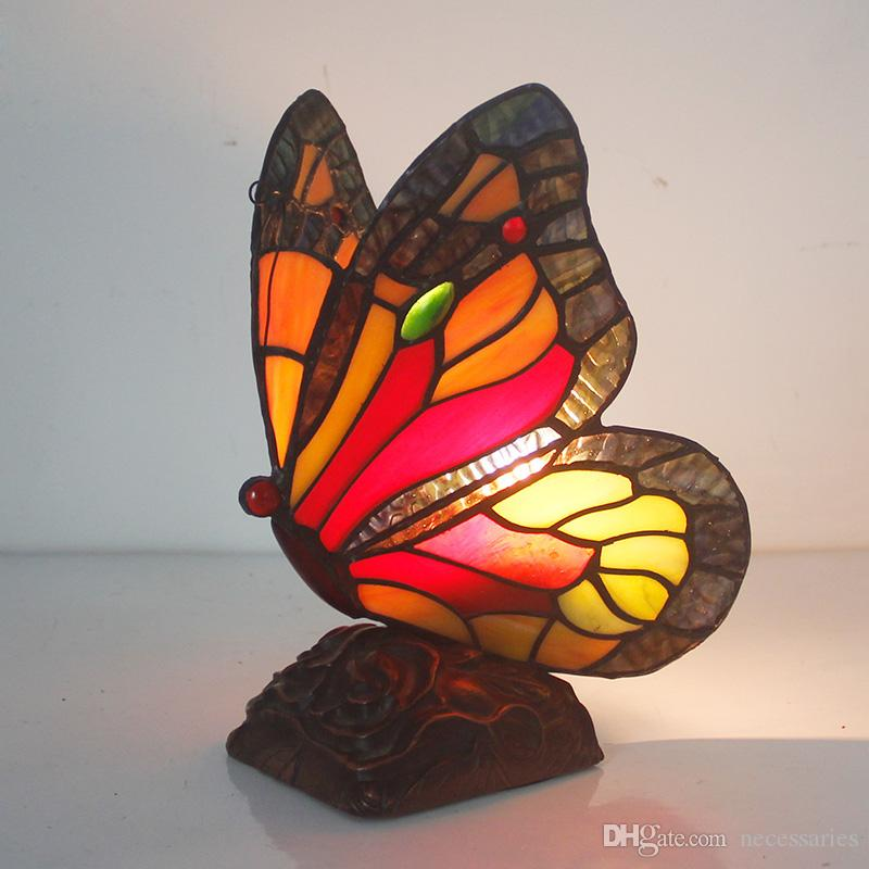 Butterfly Table Lamp Stained Glass Tiffanylamp For Living Room Bedside Lamp  Decor Art Glasss Table Light Fixtures Butterfly Desk Lamp Tiffany Butterfly  Lamp ...