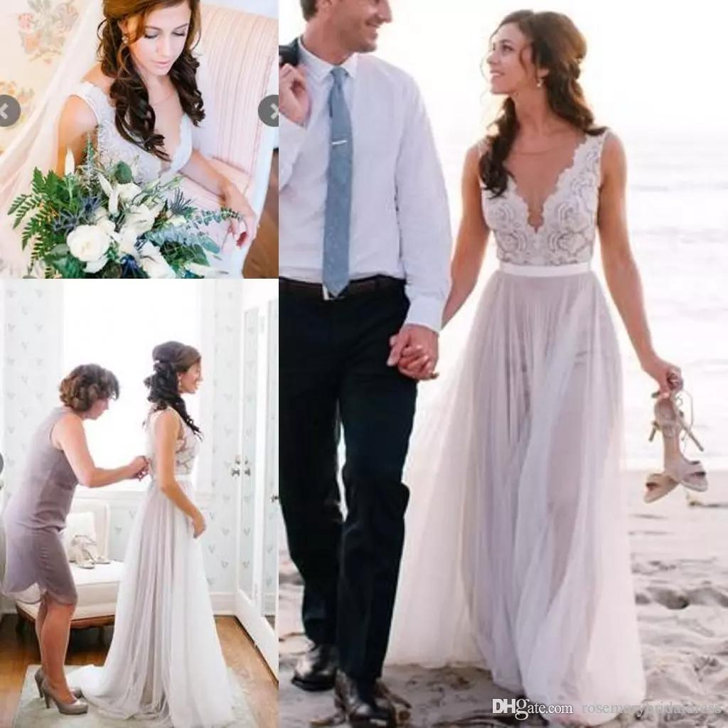 Discount 2016 new arrival summer beach wedding dresses for Cheap wedding dresses vancouver