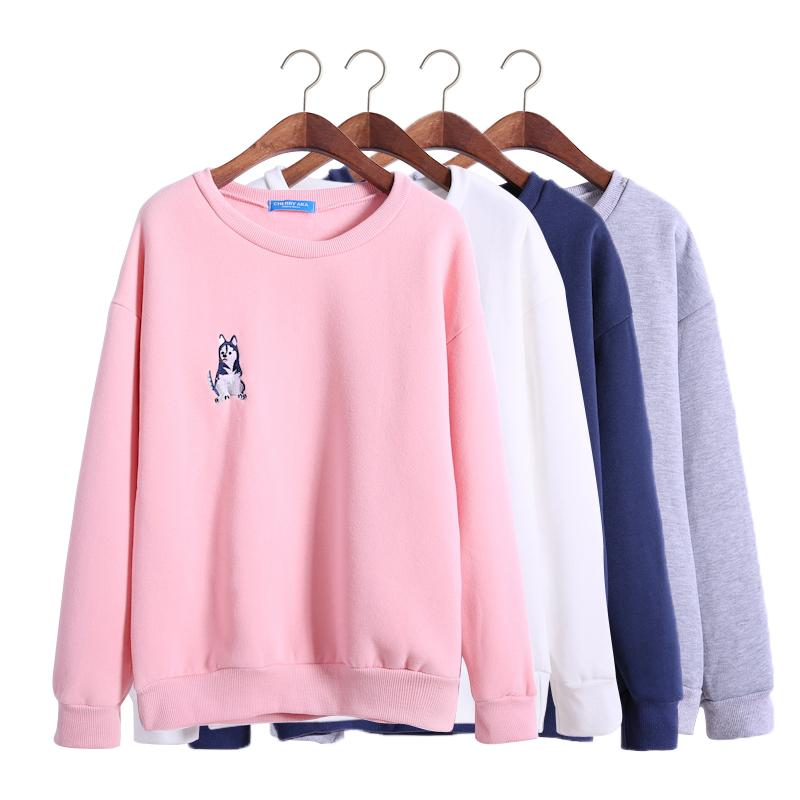 Harajuku Sweatshirt Women 2016 Korean Style Autumn Husky Puppy ...