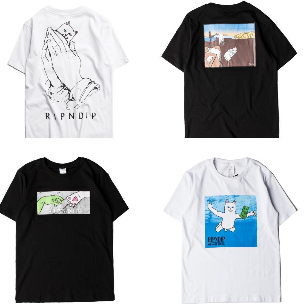 Wholesale ripndip t shirt men women skateboards hip hop for Bulk pocket t shirts