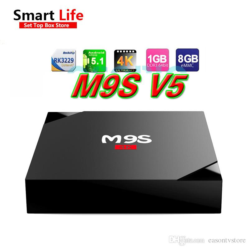Nouveau M9S V5 Android OTT TV BOX RK3229 Quad Core Smart TV BOX 1 Go 8 Go Suppor