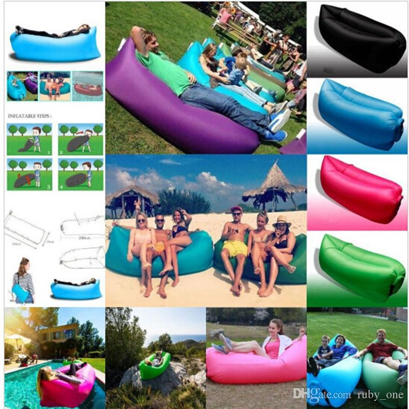 Gonflable Lazy Lounger Air Sleeping Bag Hang Out Boat Air Lazy Sofa Beach Campin