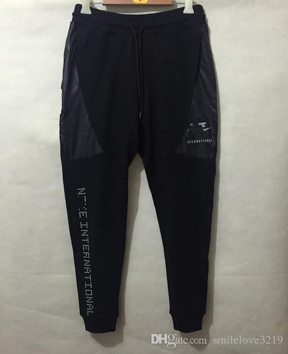 Wholesale tech fleece sport pants space cotton trousers for Tech shirts running wholesale