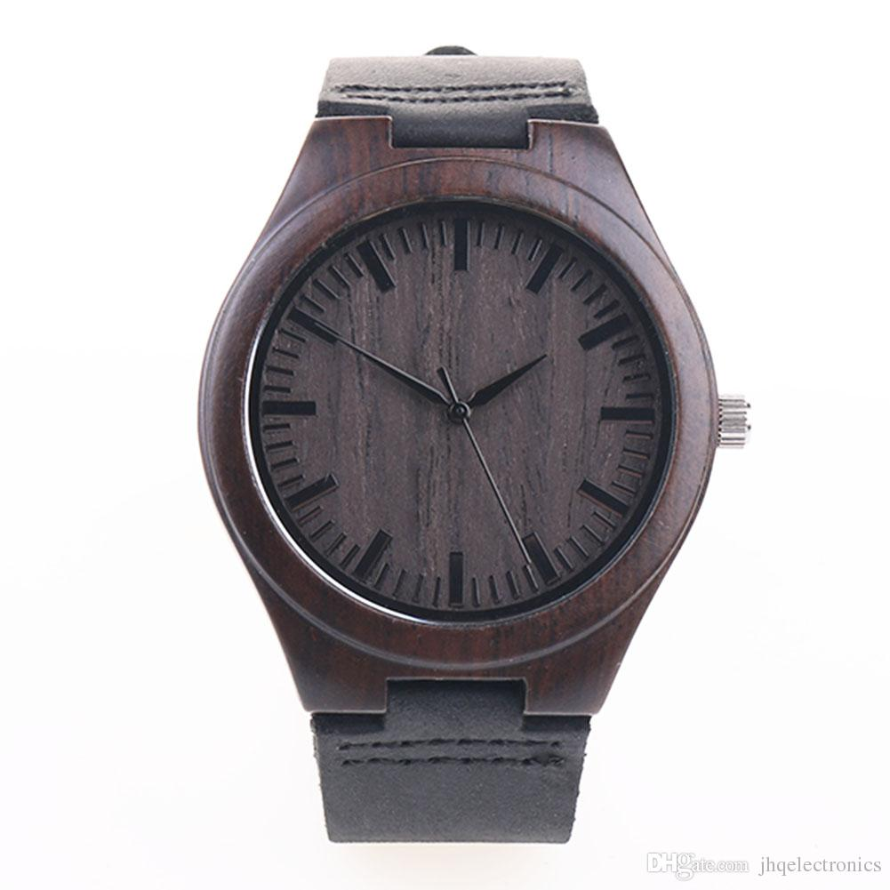 wood mens womens wooden with leather band japanese
