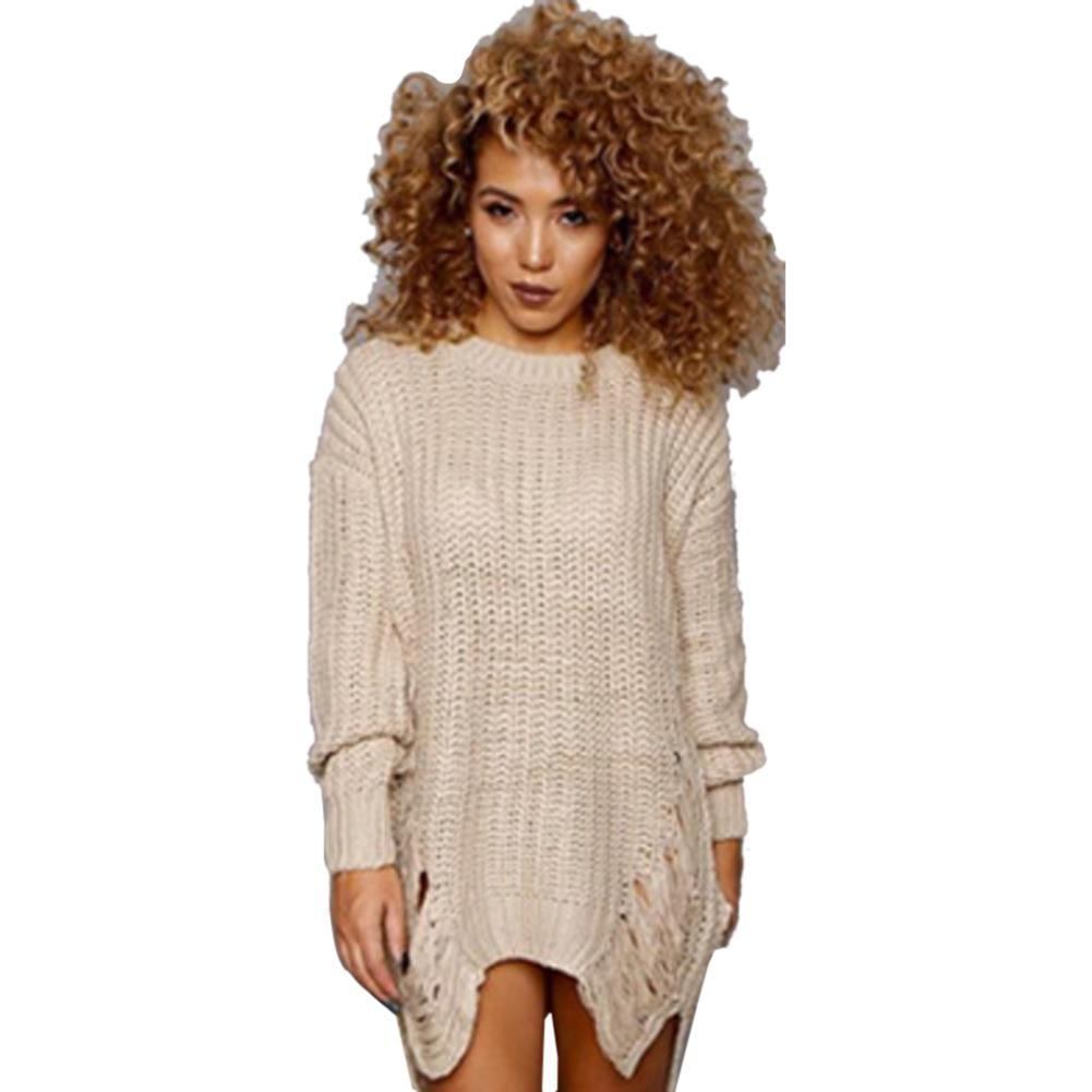 Wholesale-Sexy Oversize Sweater Pull Femme Hollow Out Pullover ...