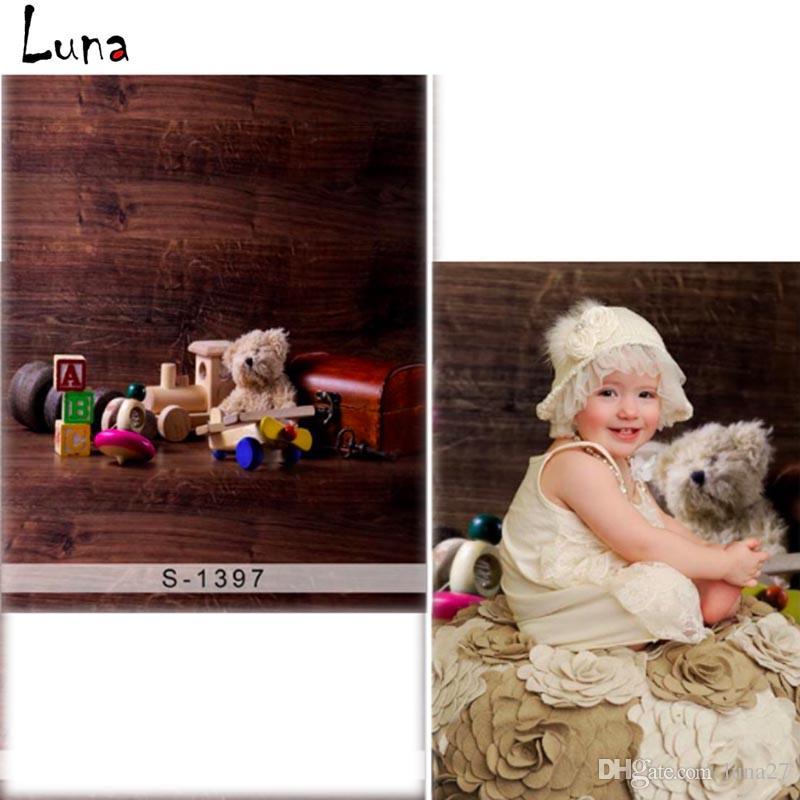 2018 5x7ft Wooden Floor Doll Bear Vinyl Photography
