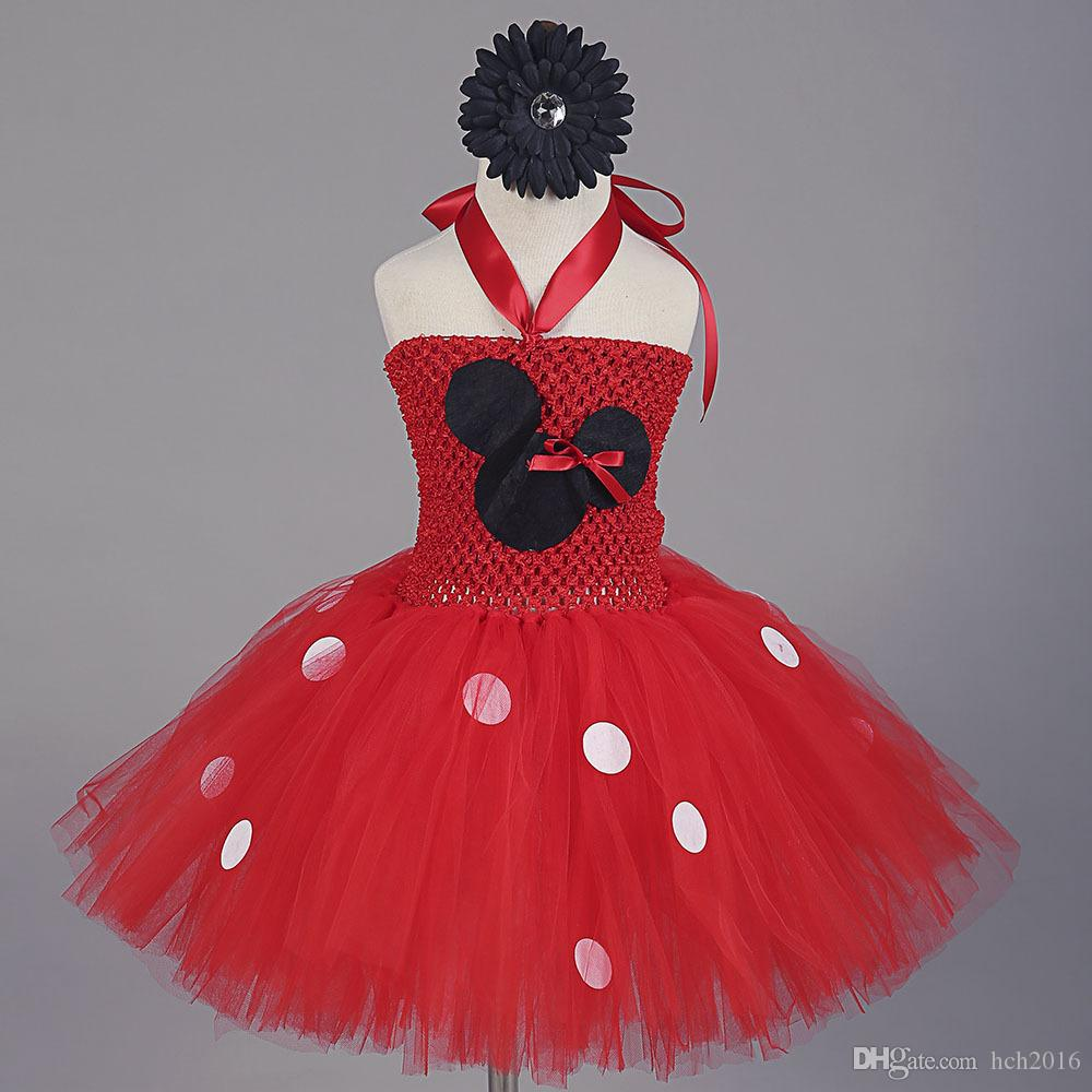 Christmas dress for baby - Girl S Dresses Baby Girl Princess Tutu Minnie Mouse Costume Kids Christmas Frock Red Tulle Ball Gown