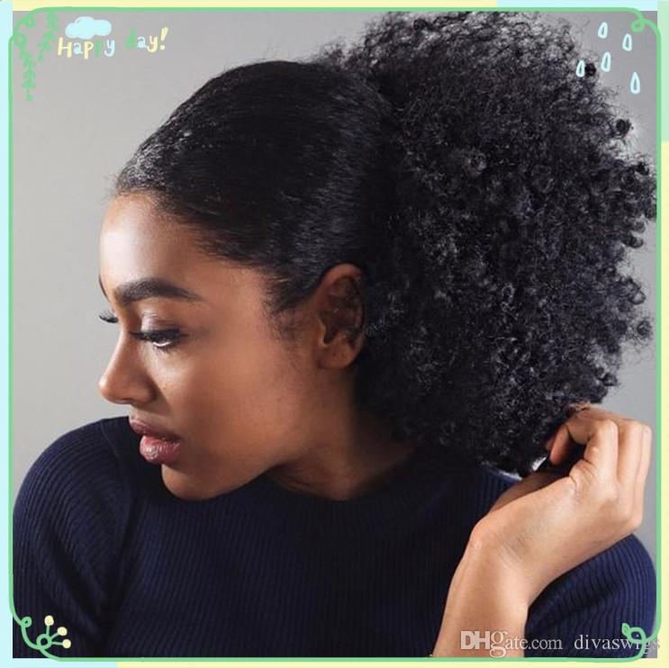 8a Afro Kinky Curly Ponytail Extensions Drawstring