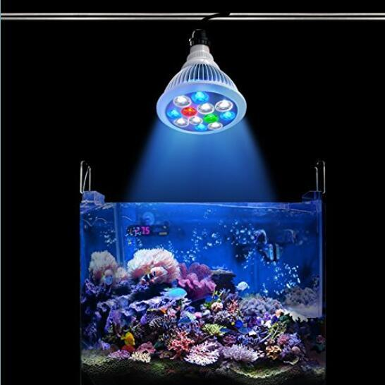 2018 12w led aquarium spot light for home coral fish reef for Saltwater fish tank lights