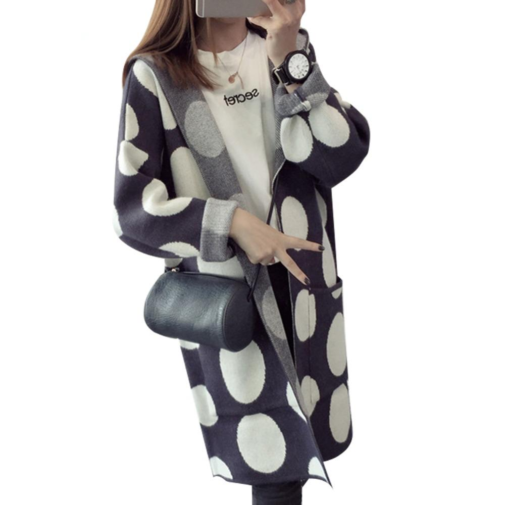 Wholesale-Women Cardigan Sweater Coat 2016 Autumn Poncho Hooded ...