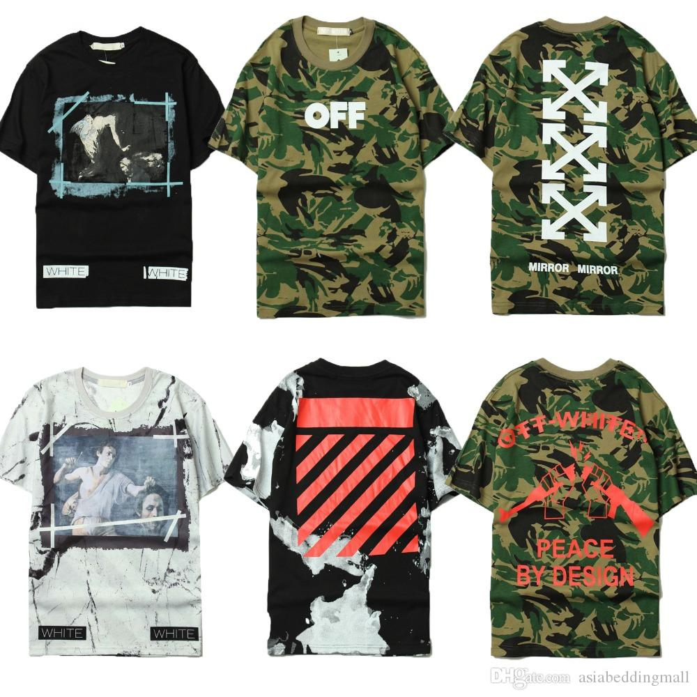 Design your own t shirt military - Off White C O 13 Trend T Shirts Men Women Fashion Summer Brand Clothing