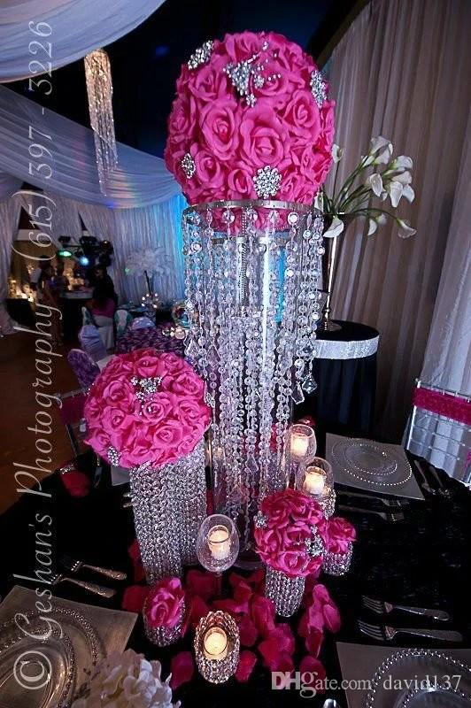Crystal wedding chandelier flower floral stand candelabra