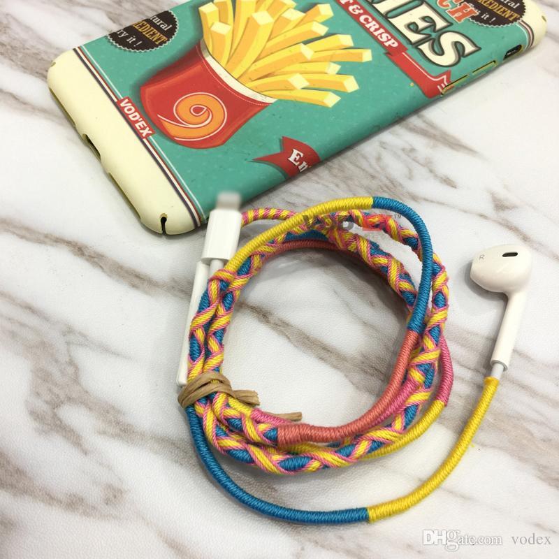 Iphone7 Hand Knitting Headphones Handfree Handset
