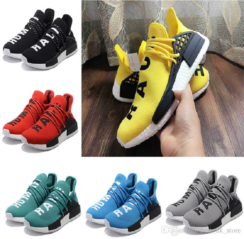 New UA NMD PW Human Race Yellow Black Sneakers with Big