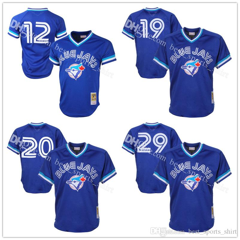 Hommes Toronto Blue Jays Roberto Alomar Joe Carter Mitchell Ness Royal 1993 Auth